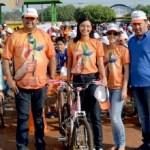 Assistencia social em parceria com prefeitura realizou passeio de ciclistas e comemora dia das crianças