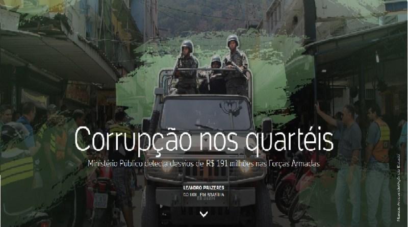 Corrupção nos quartéis – Ministério Público detecta desvios de R$ 191 milhões nas Forças Armadas