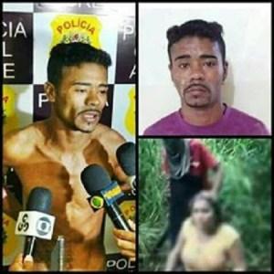 Esse foi o responsável por cortar a cabeça de Débora naquele vídeo. Foi preso hoje pela polícia.