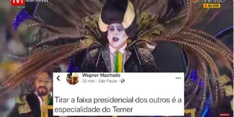 Desfile sem faixa presidencial de Vampirão da Tuiuti provoca debate sobre censura