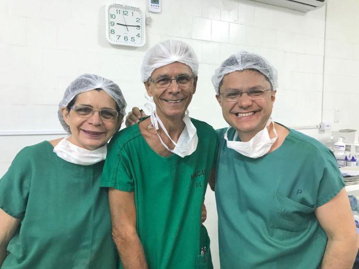 Zenilda Bruno, Edmar Maciel e Leonardo Bezerra (Foto: Arquivo Pessoal / Leonardo Bezerra)