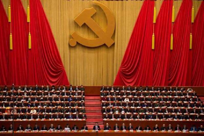 Xi Jinping, em 24 de outubro, no XIX Congresso do Partido Comunista. © Fornecido por El Pais Brasil
