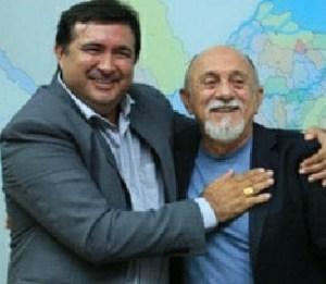 Prefeito Macarrão e Governador Simão Jatene (PSDB)