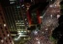 Vereadora Assassinada no Rio-Milhares se reúnem em SP em protesto contra morte de Marielle
