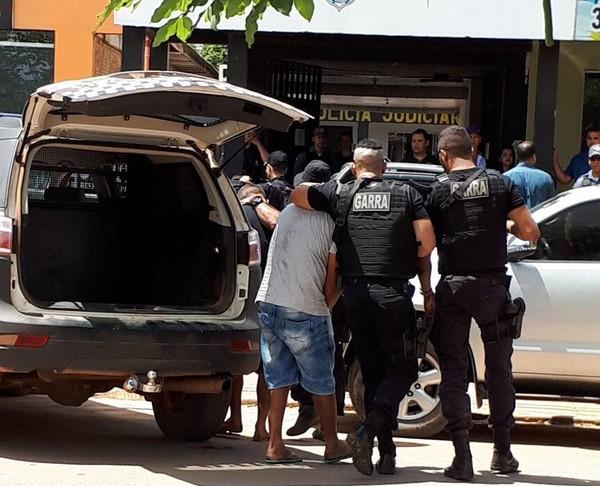 Suspeitos foram presos um dia após o crime (Foto: Harlis Barbosa/Arquivo pessoal)