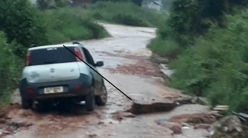 enchente carro
