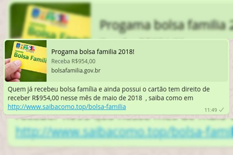 Golpe que promete benefício do programa Bolsa Família afeta mais de 600 mil brasileiros em 24 horas (//Reprodução)