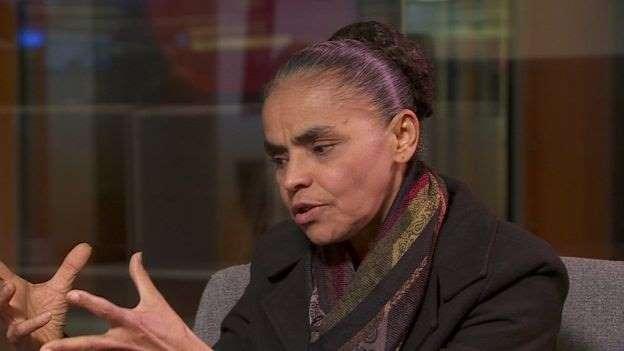 Marina Silva em entrevista à BBC: Marina Silva se distanciou do petismo desde 2009, quando saiu do partidom(foto BBC Brasil)