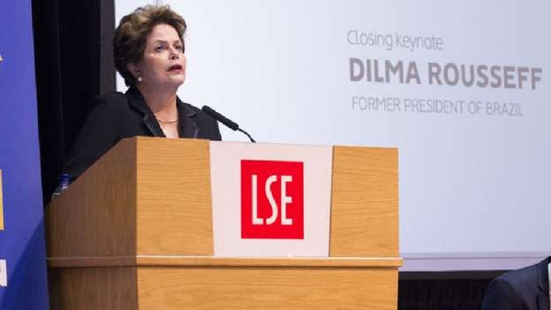Forum UK Dilma falou em um auditório da London School of Economics (LSE)(Foto     © Cynthia Vanzella / Divulgação Brazil )