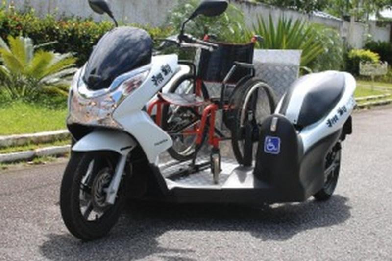 O triciclo do modelo Modelo PCX 150, fabricado pela empresa Free Way (Foto: Reprodução/ Free Way)