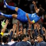 Com presença de Ronaldo, Pirlo se despede do futebol entre craques