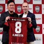 Iniesta assina com novo clube: 'É um dia muito importante para mim'