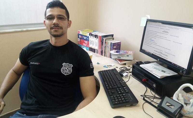 Delegado de Polícia Civil, William Fonseca, de Oriximiná, no Pará (Foto: Márcio Garcia)