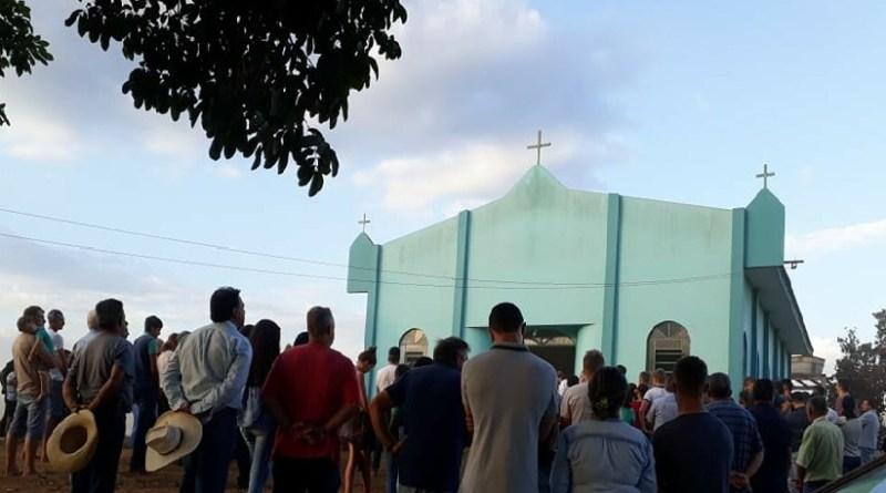 Missa de corpo presente na Capela São José (Foto:WhatsApp)