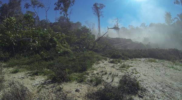 Dois Helicóptero usado na operação em reservas (Foto: DPF/ Divulgação)
