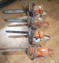 Motoserras usadas foram apreendidas pelo Ibama (Foto: TVCA/Reprodução) Outras apreensões