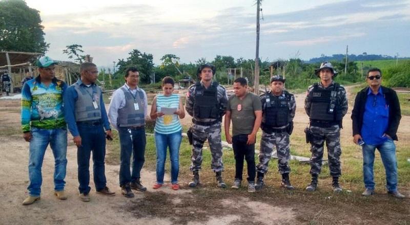 A reintegração de posse aconteceu na última sexta-feira, 15. (Foto: Reprodução/Agência Pará)