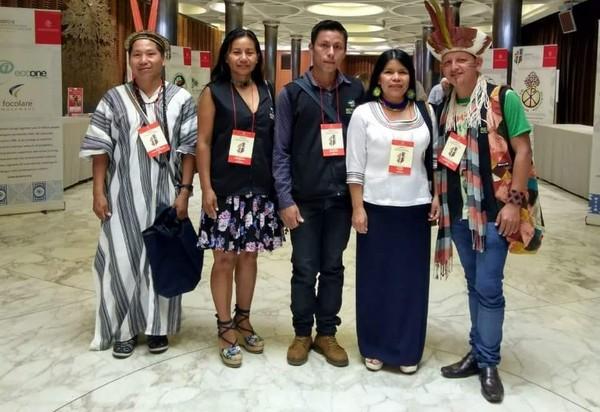 Delegação indígena da Pan-Amazônia (Foto: Diego Arapyun/ Arquivo Pessoal)