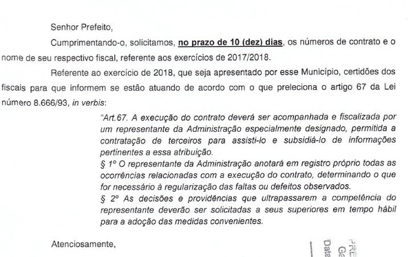 Ofício do MPPA enviado às prefeituras de Santarém, Belterra e Mojuí dos Campos, no oeste do Pará (Foto: Reprodução/MPPA)