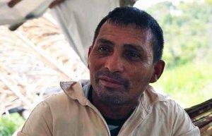 """Aluisio Sampaio, sindicalista [Alenquer,] líder da ocupação camponesa dos sem-terra """"KM Mil"""", foi assassinado em 11 de outubro. (Foto de Thais Borges)."""