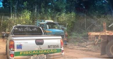 Veículo usado na fiscalização do Ibama em operação contra desmatamento em Sinop, no Mato Grosso. No sábado, 3 desses veículos foram queimados em Rondônia. Foto: Divulgação.