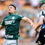 Com dois de Deyverson, Palmeiras bate Grêmio e mantém liderança