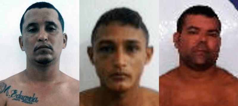 Edson Jose dos Santos Souza, Erik Cunha Costa e Fabio Alexandre Raiol de Oliveira