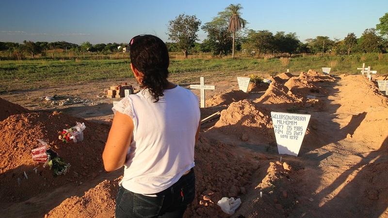 Cemitério de vítimas da chacina de Pau D'Arco, no Pará — Foto: Mario Campagnani/Justiça Global/Divulgação Por G1 PA — Belém