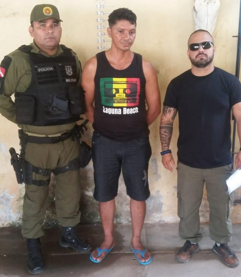 Acusado de tráfico de drogas teve a prisão decretada e cumprida nesta segunda-feira em Alenquer — Foto: Polícia Civil/Divulgação