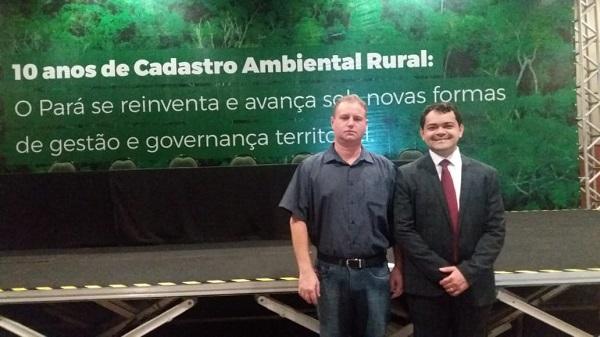Secretario Municipal de Meio Ambiente Sr. Juliano Cesar Simionato e Secretario de Meio Ambiente do Estado do Pará Sr. Thales Bello.