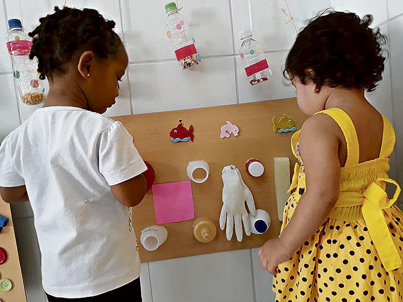 Bebês recebem novos estímulos em berçário de Santarém (Foto: Divulgação)