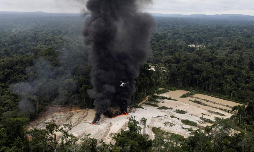 Ibama rastreia todos os garimpos ilegais na floresta amazônica-Fotos