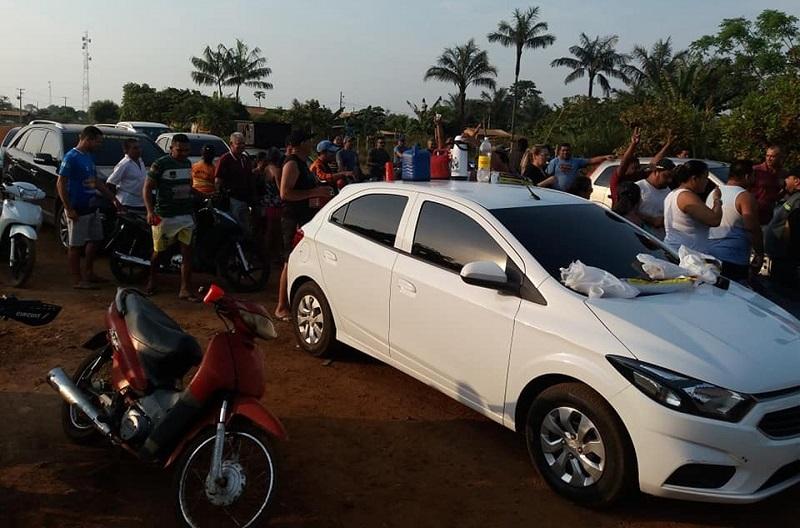 Protesto em Parauapebas contra a Celpa - Crédito: Reprodução - Blog Zé Dudu
