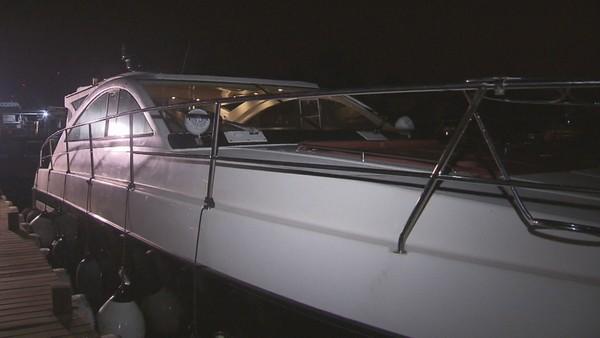 Lancha de luxo que seria alugada — Foto: Reprodução/TV Globo