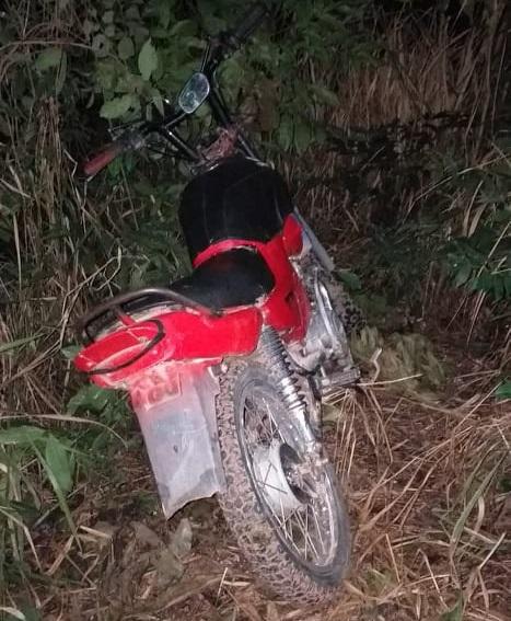 Motocicleta usada no crime (Foto:WhatsApp)