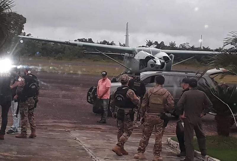João Soares, apontado como chefe de quadrilha de tráfico internacional de drogas, é preso em Tucumã, no Pará, durante a Operação Flak — Foto: Wesley Costa