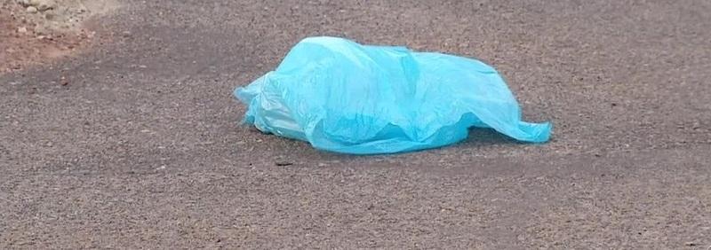 Sacolas plásticas são vistas constantemente nas vias publicas de Novo progresso