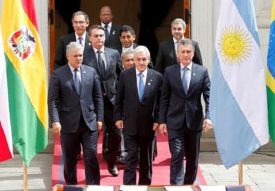 Bloco sul-americano Prosul é criado no Chile com presença de Bolsonaro