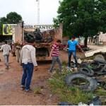 Agentes de endemias realizam mutirão para coleta de pneus