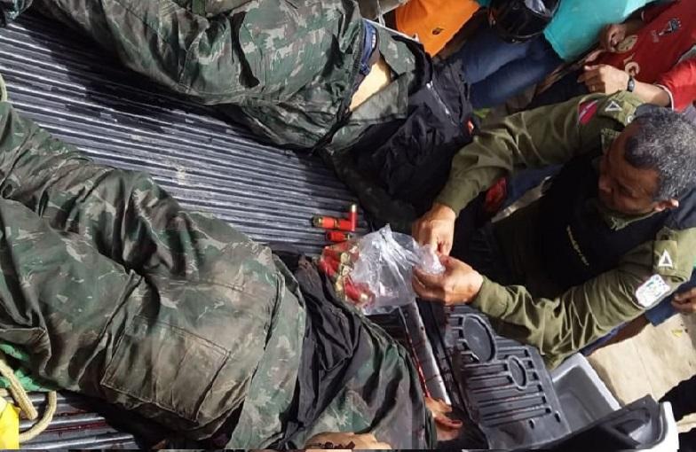Dois nas mãos da Policia Militar de Castelo dos sonhos(Foto:Whatsapp)