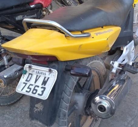 Moto Roubada (Foto:Divulgação Policia)