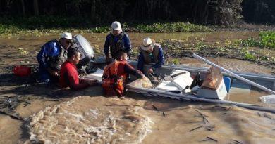 Vídeo mostra barcos afundando em festival de pesca de Cáceres