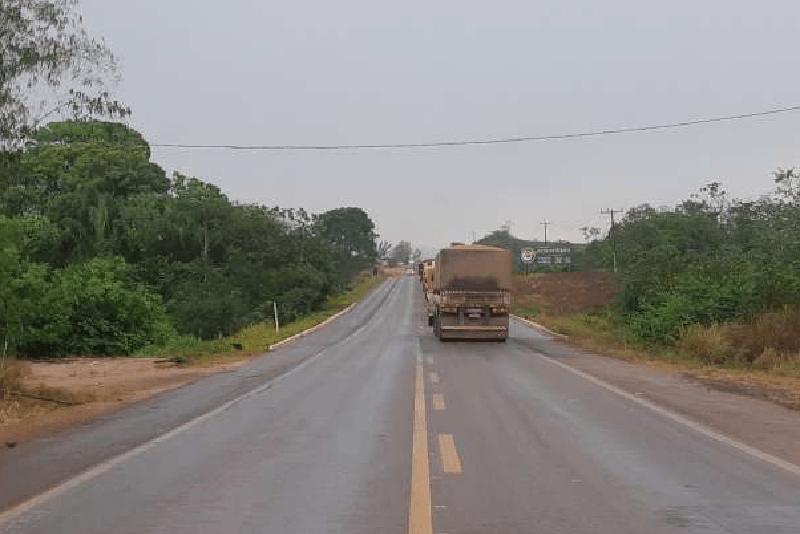 Fila na rodovia BR 163 (Foto:Jornal Folha do Progresso)