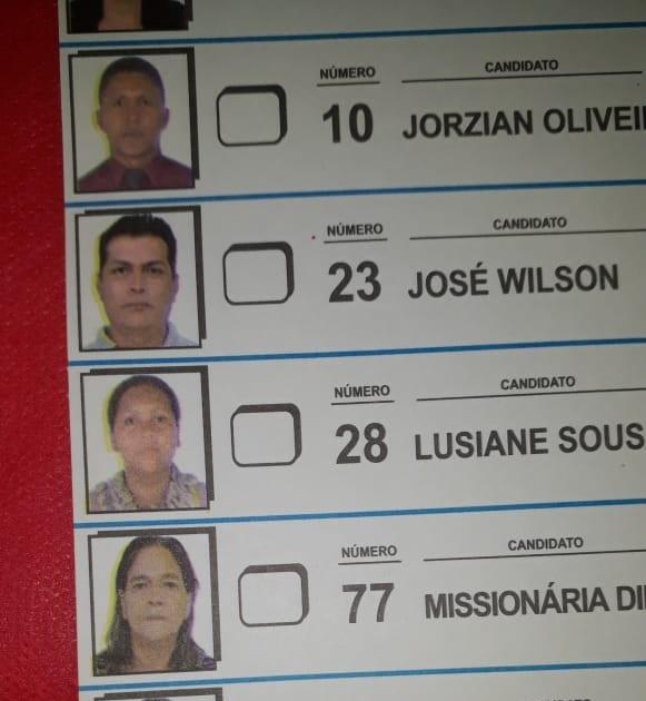 Cédula usada para votar (Foto:Jornal Folha do Progresso)