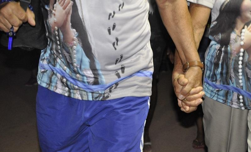 Casal caminha junto há mais de 21 anos — Foto: Kamila Andrade/G1