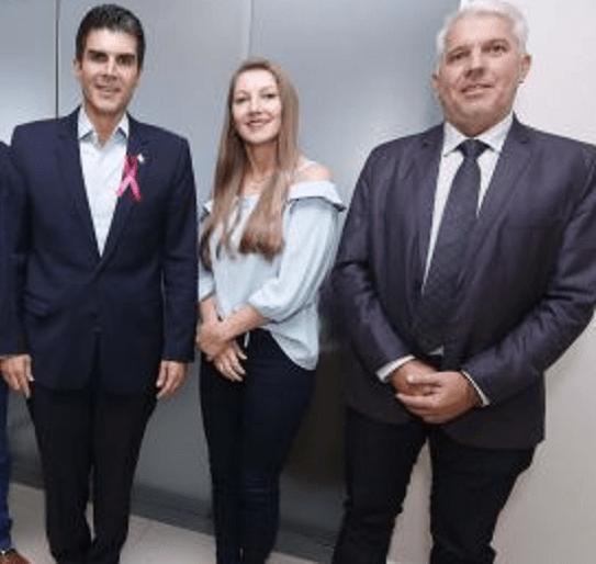 Helder Barbalho , ex-prefeita Madalena HoffmaNn(PSDB) e vice prefieto Gelson Dill (MDB)