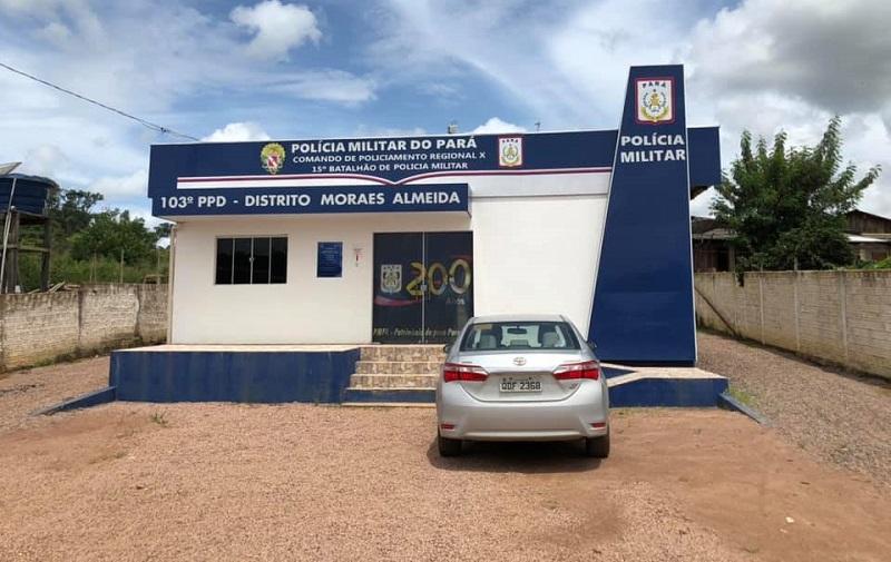 Delegacia de policia de Moraes Almeida distrito de Itaituba. (Foto:Reprodução)