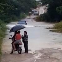 Chuva faz córregos transbordarem e alaga ruas em Novo Progresso;Vídeos