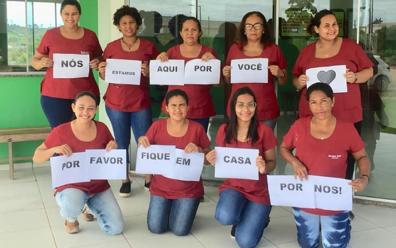 Equipe USF DR Henrique Lima de Meneses contra o coronavírus (Foto:FAcebook)