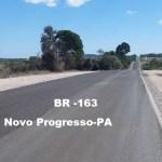 Recuperação trecho da Rodovia BR 163, no perímetro urbano de Novo Progresso afeta o trânsito